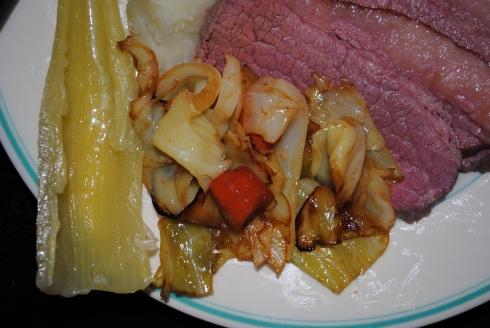 corned beef entree