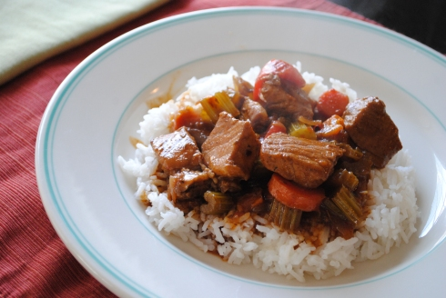 """Jamaican"" Pork Stew, or something like that"
